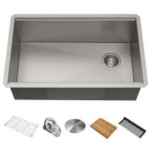 Kraus Kwu110 30 Kore 30 Undermount Single Basin Build Com In 2021 Single Bowl Kitchen Sink Stainless Steel Kitchen Sink Stainless Steel Kitchen