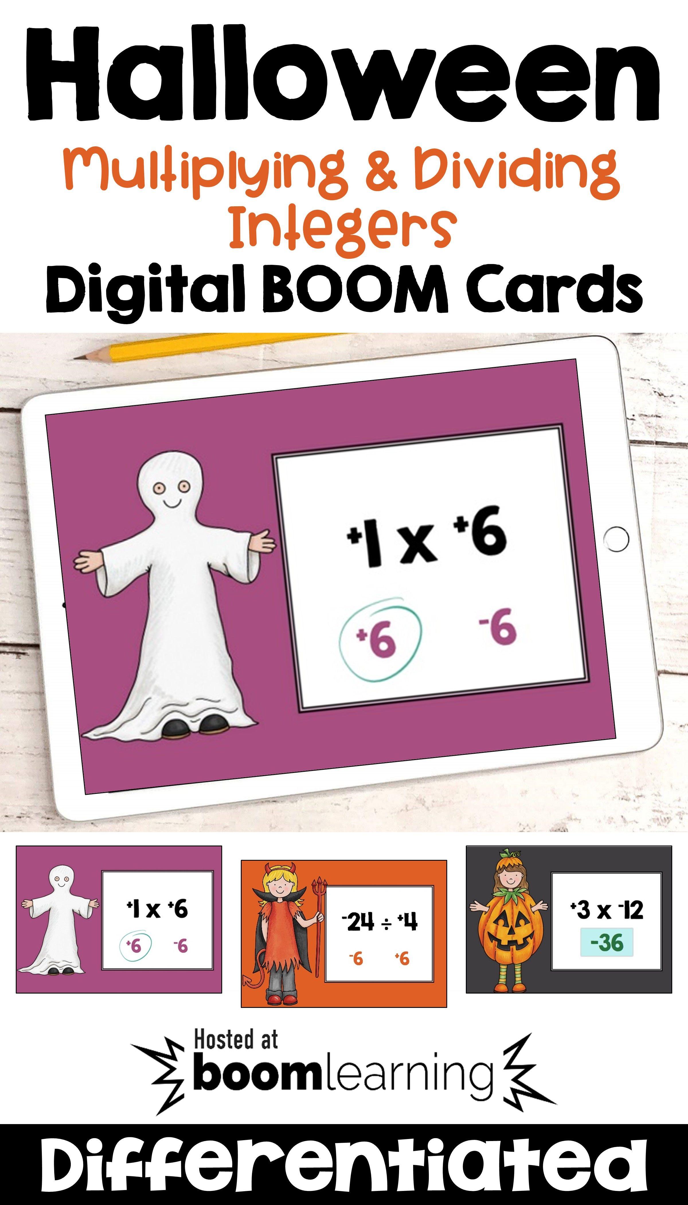 Halloween Multiplying Amp Dividing Integers Digital Boom