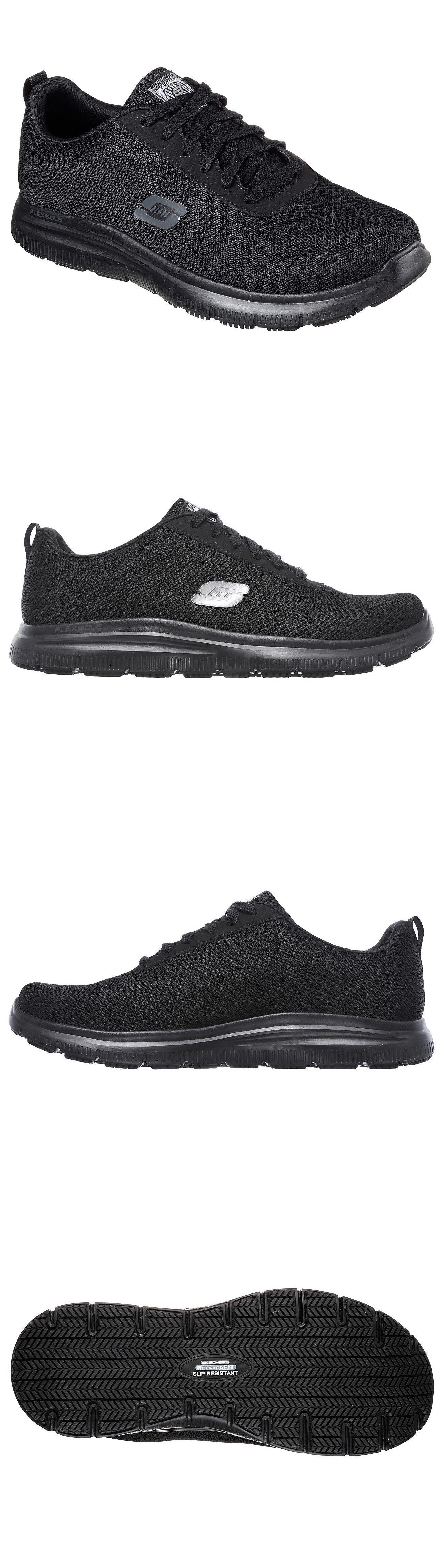 e720fab75a7b70 Occupational 11501: 77125 Black Skechers Shoes Work Men Comfort Mesh Slip  Resistant Memory Foam Lace -> BUY IT NOW ONLY: $59.99 on eBay!