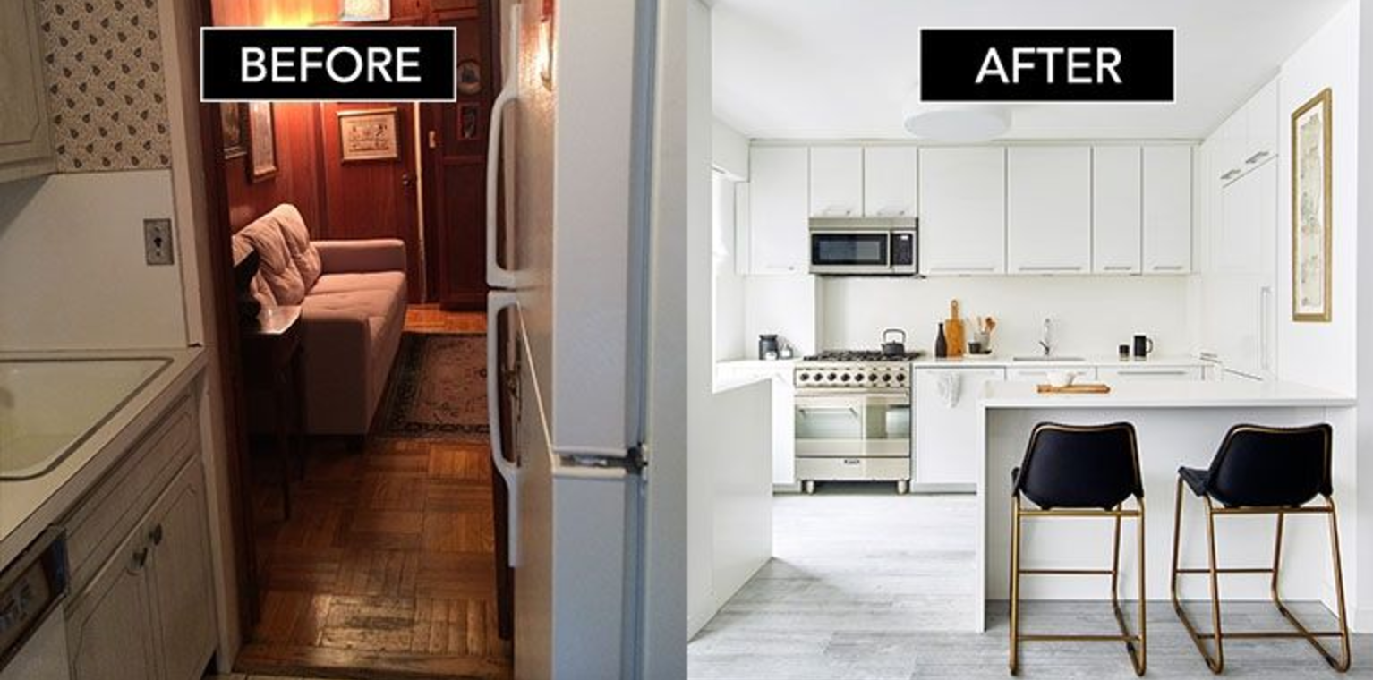 Tina S Greenwich Village Before And After Is Featured On Elle Decor Small Apartment Decorating