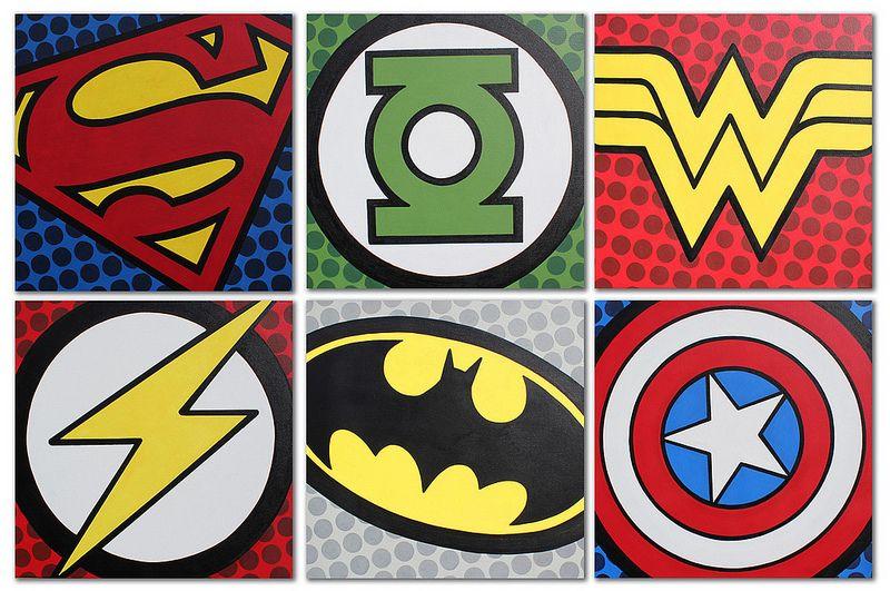 Original Popart Superhero Room Superhero Logo Templates Hero Logo