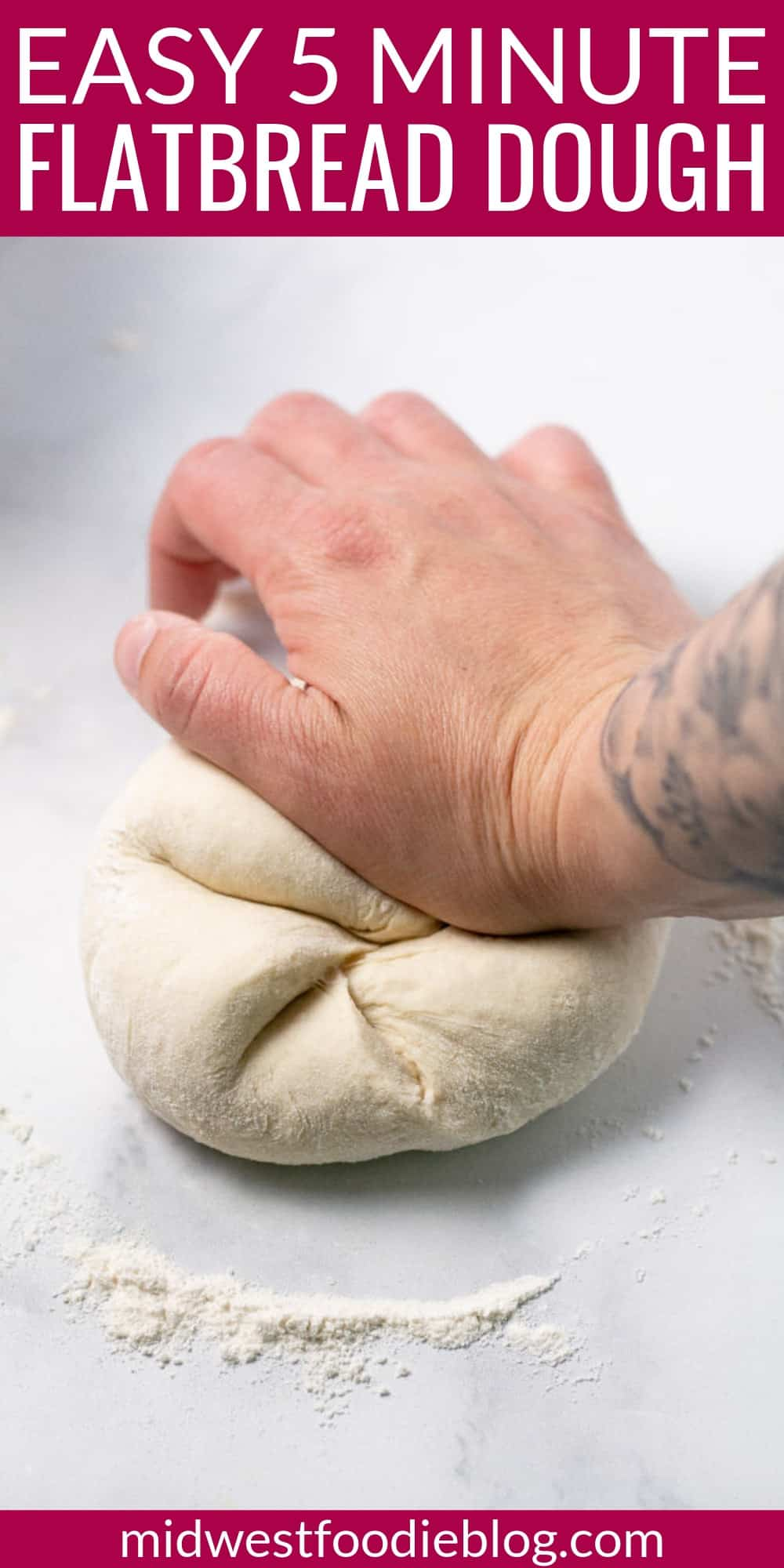 5 Minute Flatbread Pizza Dough | Midwest Foodie