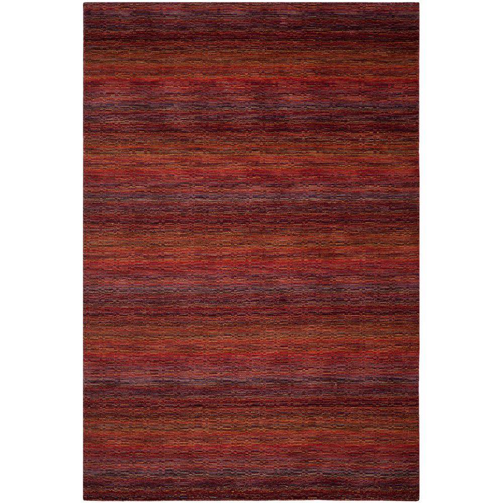 Safavieh Himalaya Red Multi 9 Ft X 12 Ft Area Rug Him703a 9 The Home Depot Modern Wool Rugs Wool Area Rugs Area Rugs