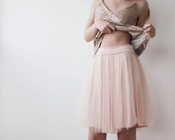 Tulle Mini longueur blush-jupe rose, mini Tutu rose jupe, jupe en tulle rose 3004