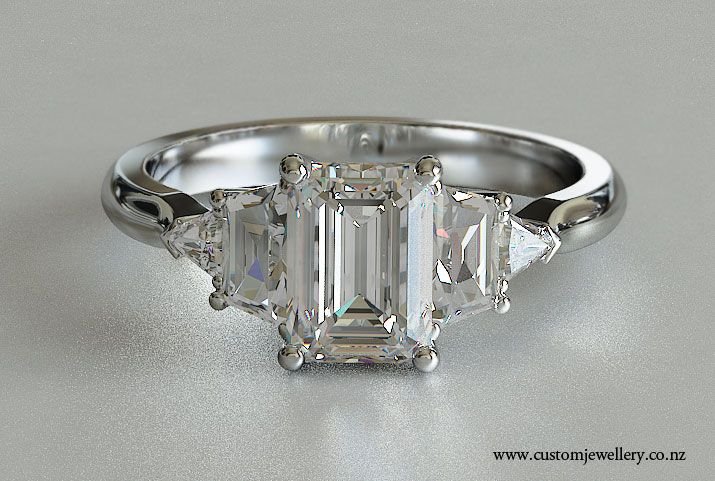 f533f666296ae emerald cut engagement rings | Emerald Cut Five-Stone Engagement ...