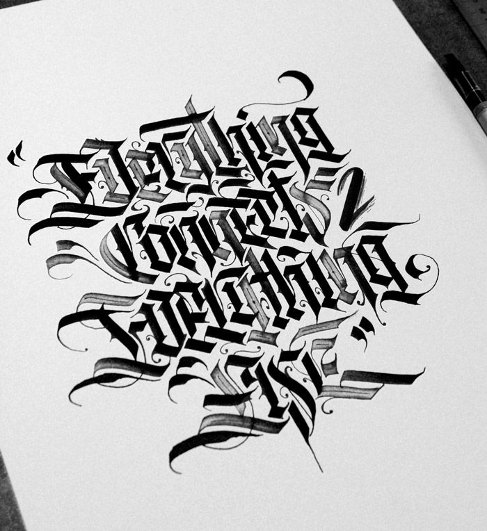 Lettering Calligraphy Designs By Daniel Letterman
