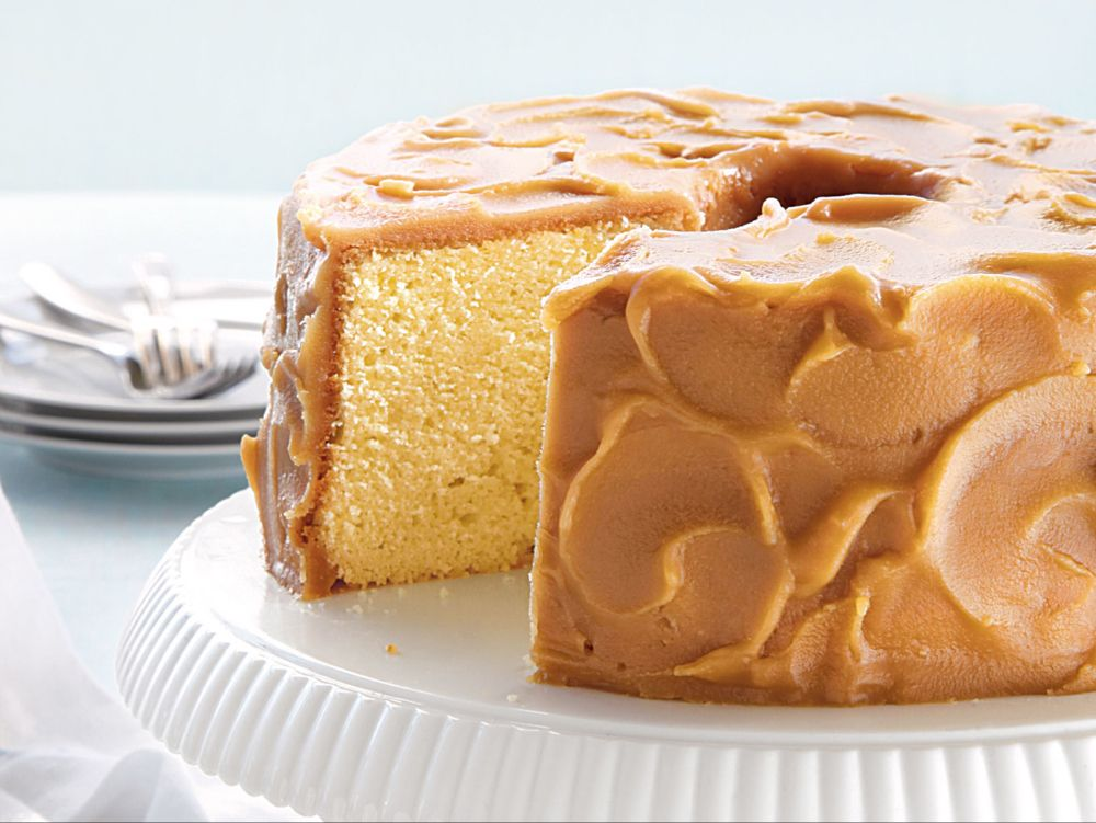 Caramel Frosted Pound Cake Recipe In 2020 Savoury Cake Pound