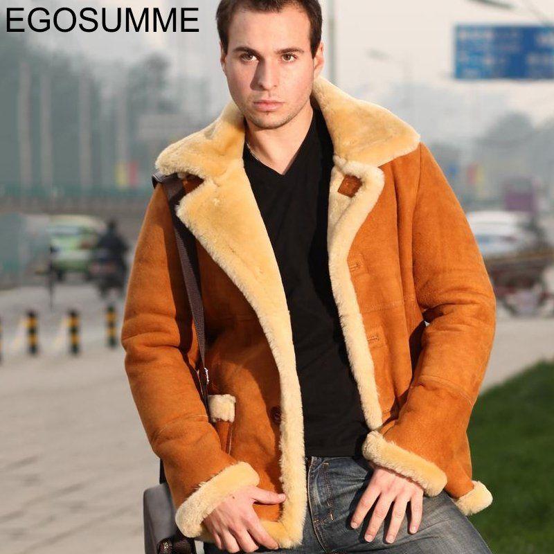 New fur coat men sheepskin leather men's winter real fur coat ...