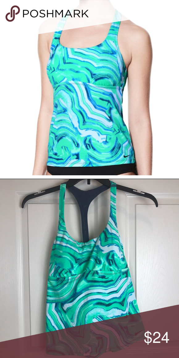 0647234ee3f Nike Racerback Tankini Top size Large New with tags Size large • Racerback  for extra support   optimal range of motion • Mesh back for water drainage  ...