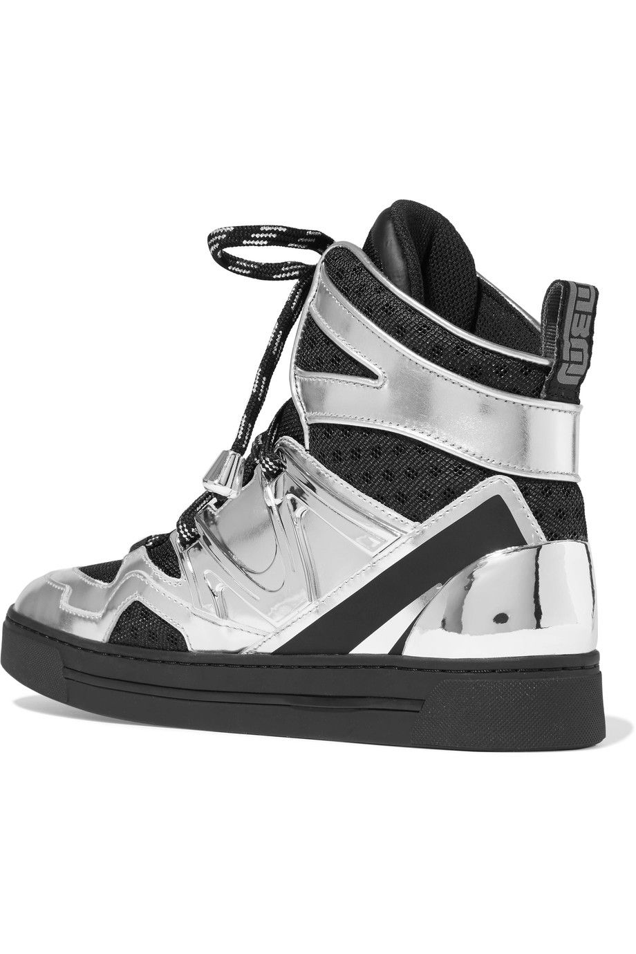 Shop on-sale Marc by Marc Jacobs Ninja mesh-trimmed metallic leather high-top  sneakers. Browse other discount designer Sneakers & more on The Most ...