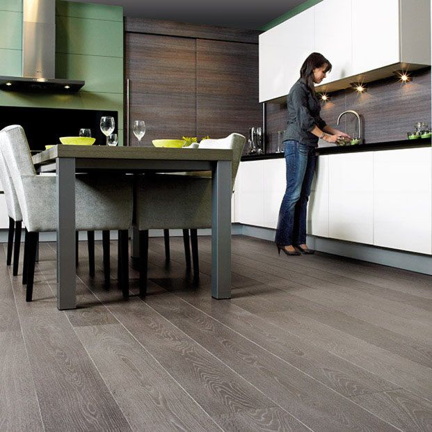 Quickstep largo grey vintage oak lpu1286 laminate flooring for Quickstep kitchen flooring