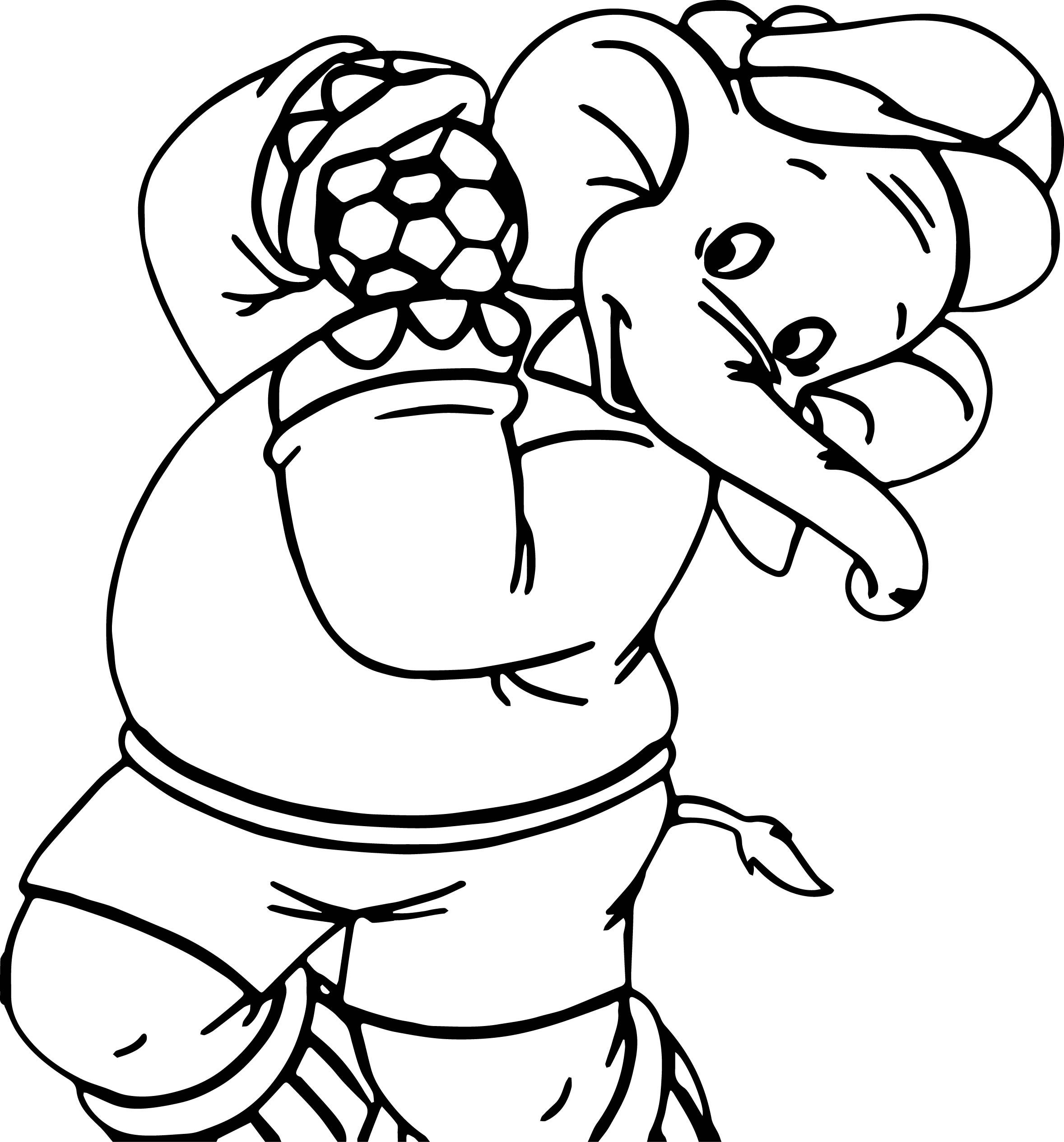 awesome Amazing Elephant Soccer Coloring Page (With images ...