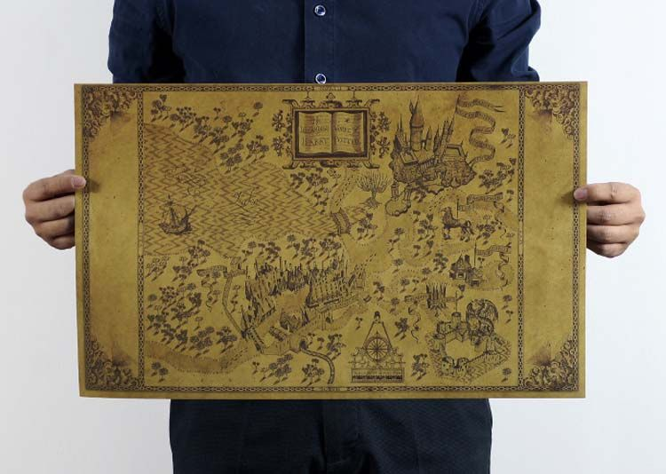 Map Of The Wizarding World Of Harry Potter Movies Collectables