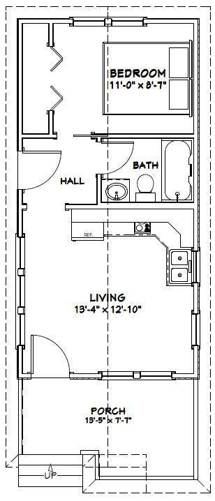 14x28 tiny house --  14x28h1m -- 391 sq ft