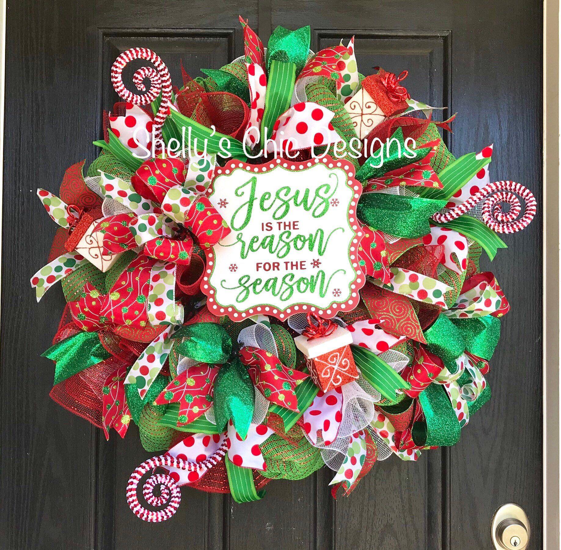 Christmas Deco Mesh Wreath Christmas Mesh Wreath Holiday wreath