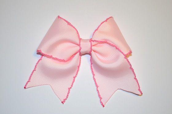 Image of Pastel Pink ribbon bow
