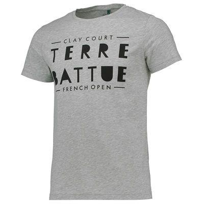 T-shirt visuel Terre Battue Roland-Garros - Homme - Gris chiné ... 2cdab59d991