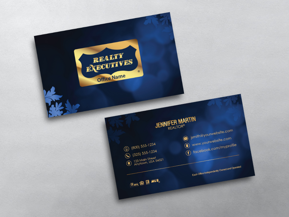 Order Realty Executives Business Cards Free Shipping Design Templates Realty Execu Realtor Business Cards Business Card Inspiration Business Cards Online