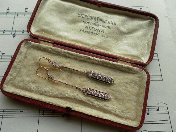 Art Deco Sterling Chandelier Earrings by webTheVintageAngel, $98.00