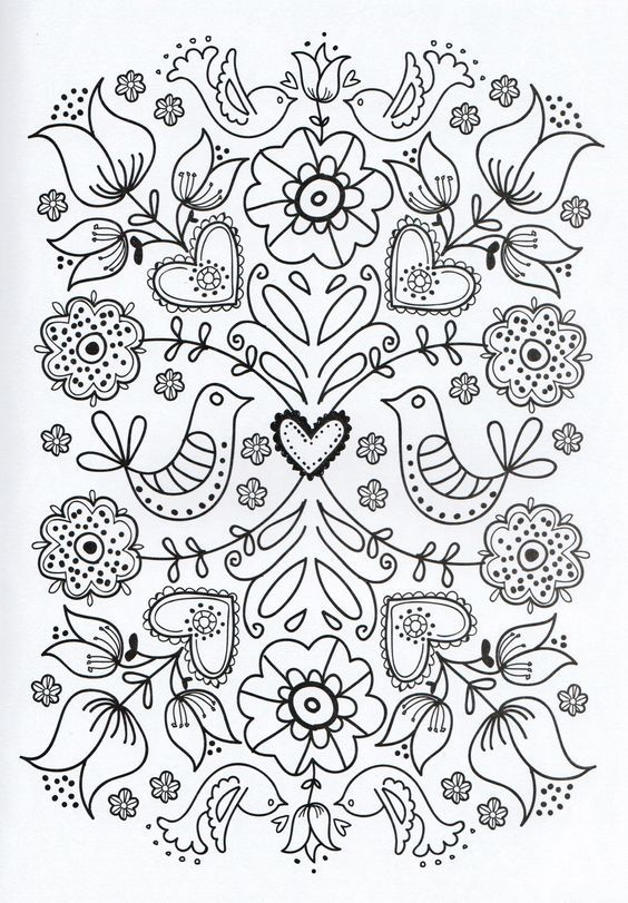 Vzroslyj Okraski Stranicy Flower Coloring Pages Coloring Pages Flower Printable