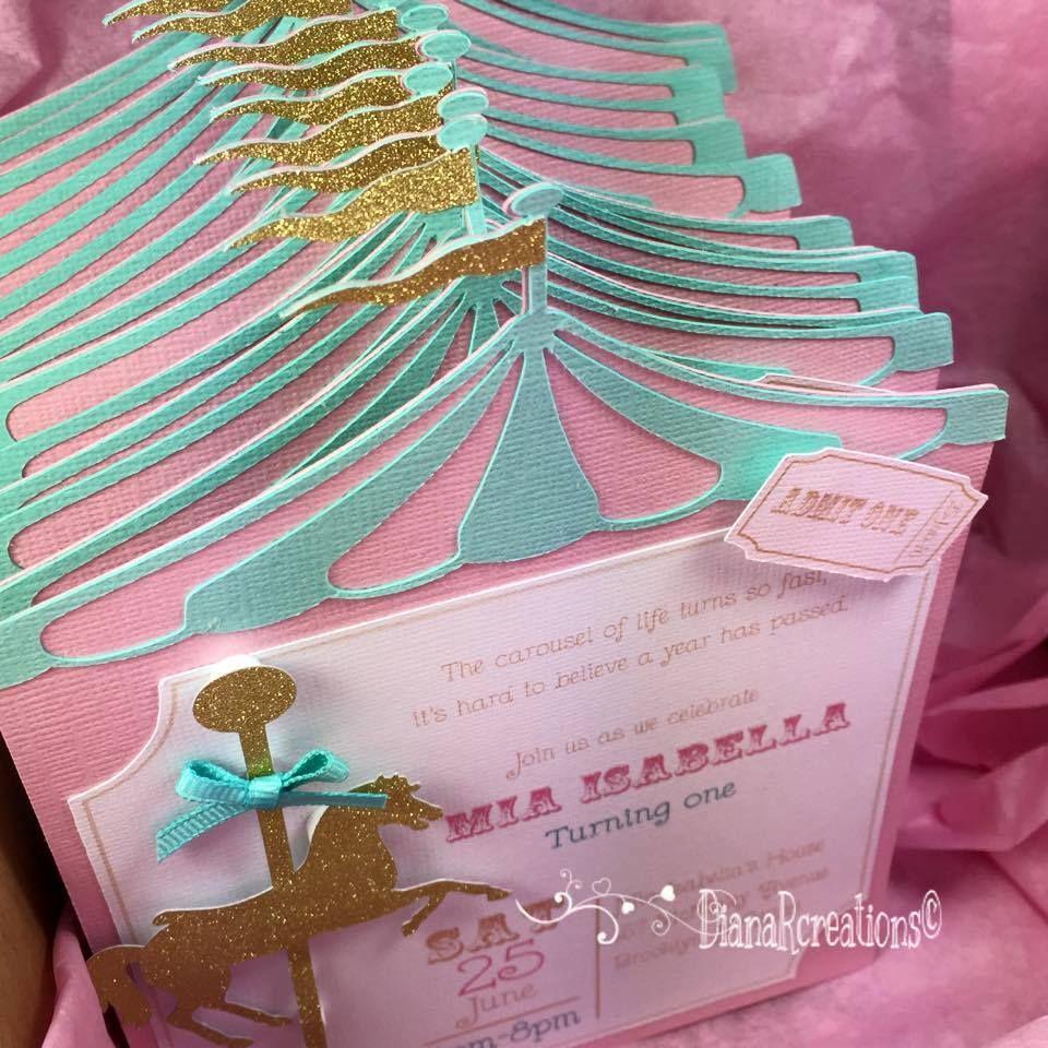 gorgeous invites | carucel | Pinterest | Ahijado, Cumple y Carrusel