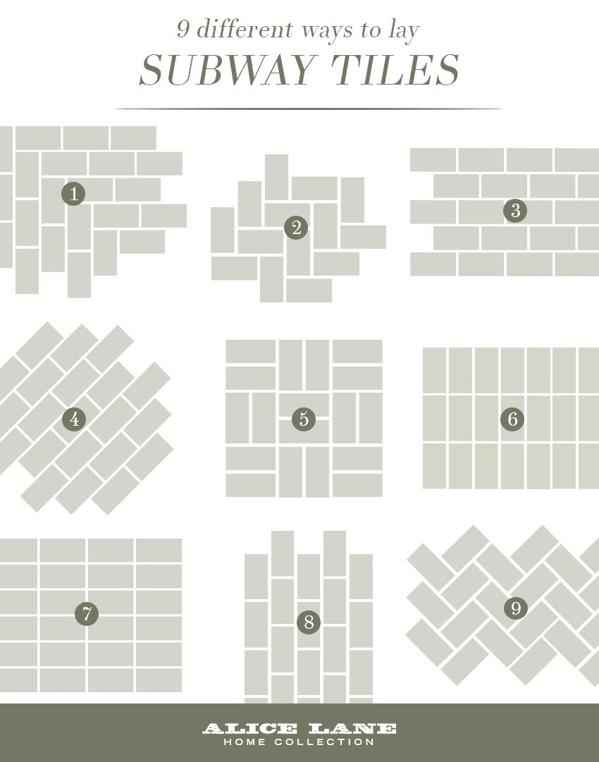 - Tiles:Subway Tile Layout Designs 9 Different Ways To Lay Subway