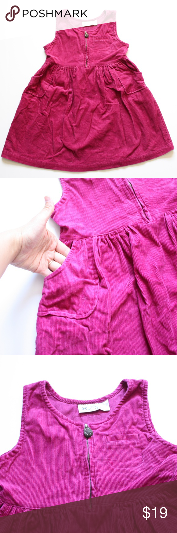 Pink n purple dress  Vintage Corduroy Magenta Dress Sz   My Posh Picks  Pinterest