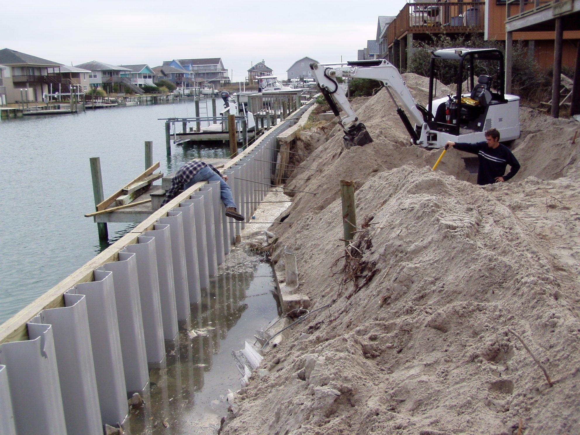 Bulkhead Retaining Wall Sea Wall Lake House Retaining Wall