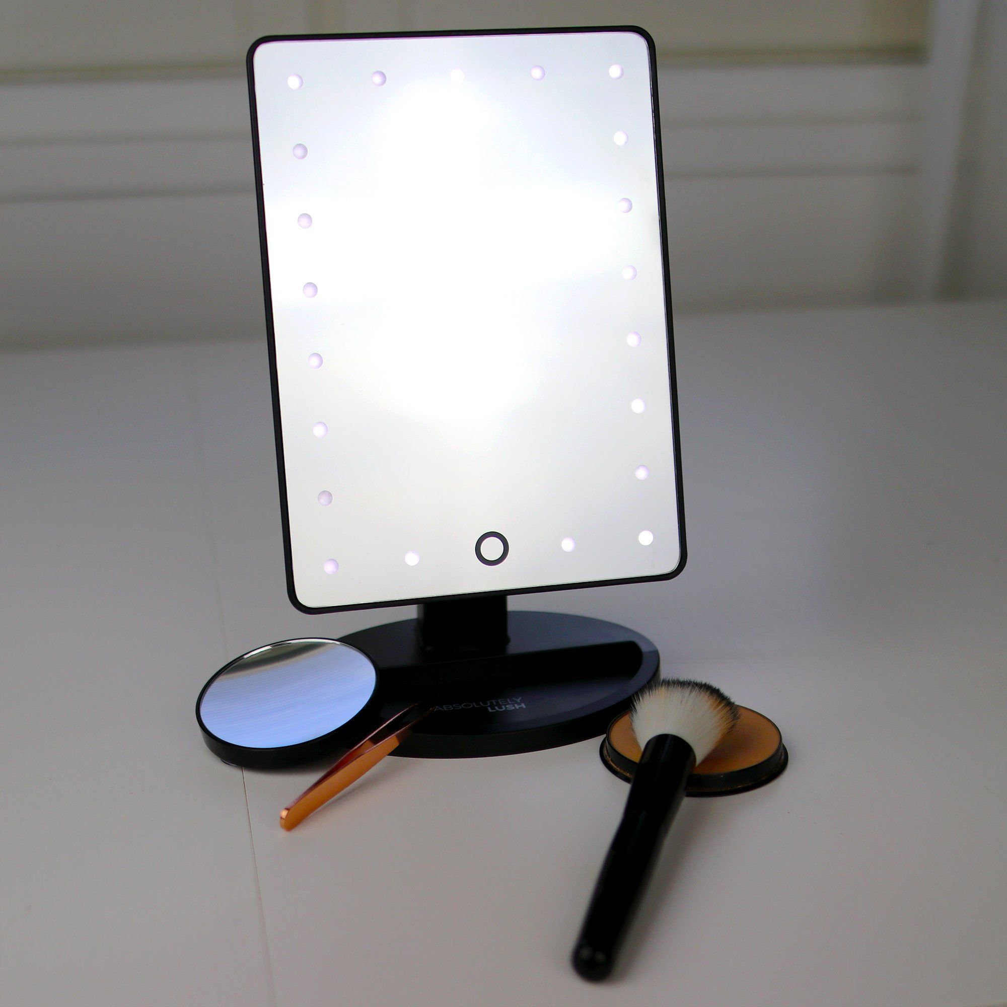 Natural daylight lighted makeup mirror vanity mirror with touch natural daylight lighted makeup mirror vanity mirror with touch screen dimming detachable 10x magnification spot aloadofball Choice Image