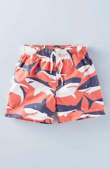 072b47b05f Mini Boden 'Bathers' Print Swim Shorts (Toddler Boys, Little Boys & Big Boys)  available at #Nordstrom
