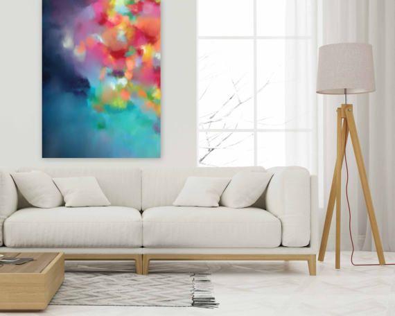 Minimalista pintura abstracta arte de la pared más grande