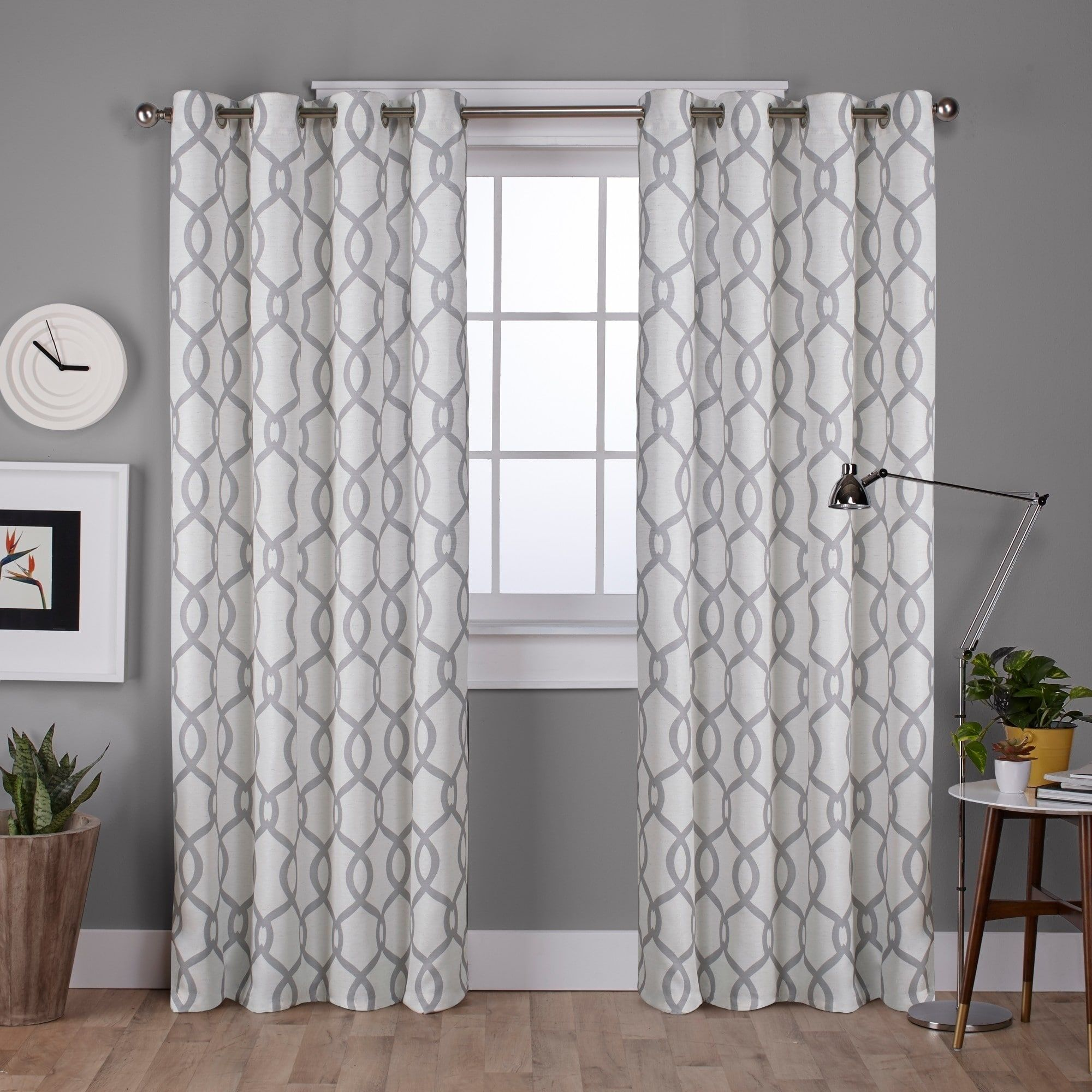 Ati home kochi linen blend window curtain panel pair with grommet