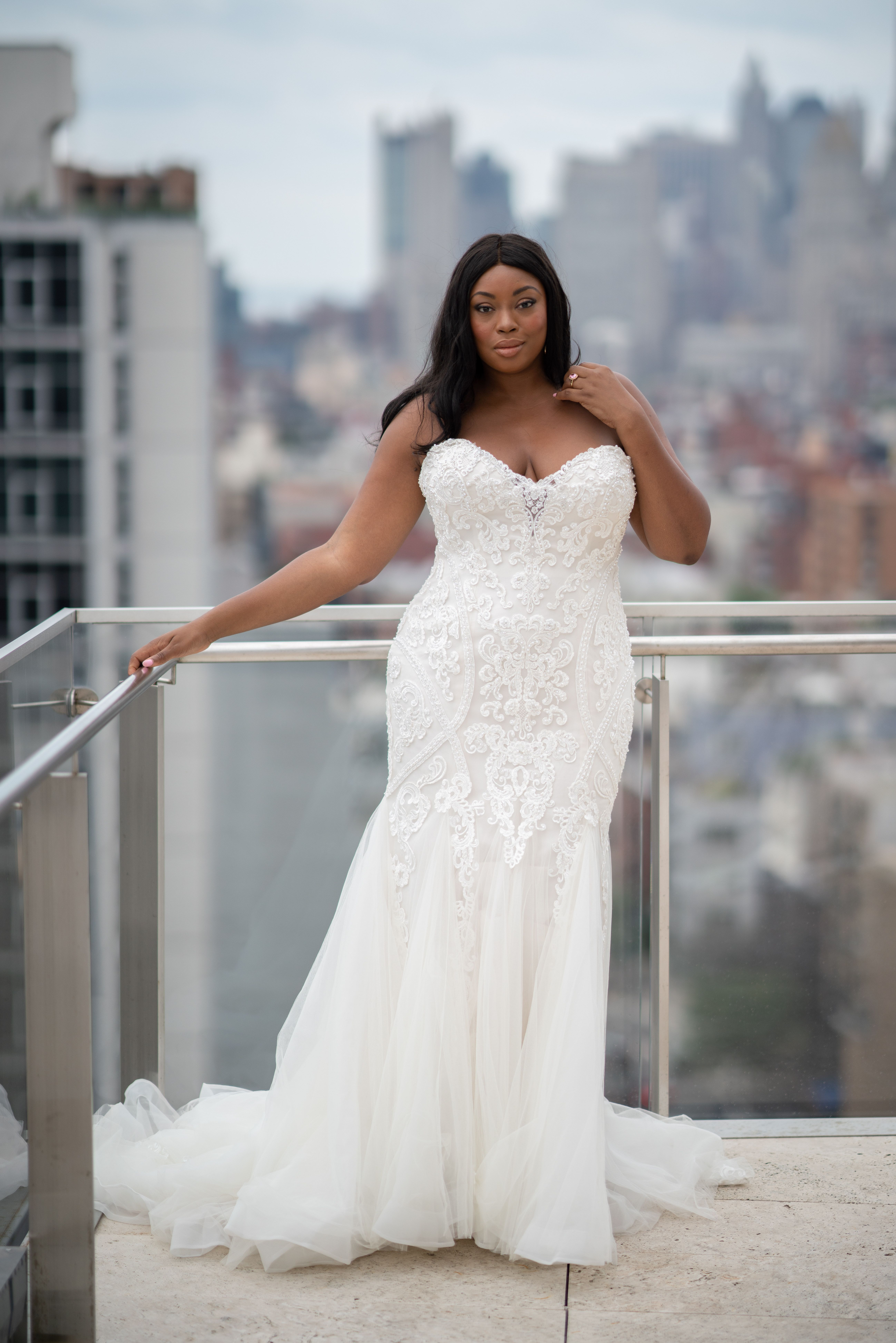 b4aa383675 On Cloud 9 during  NYBFW at The Standard East Village. Lovely Liris wearing  Quincy by Maggie Sottero. This vintage-inspired wedding gown features a  bodice ...