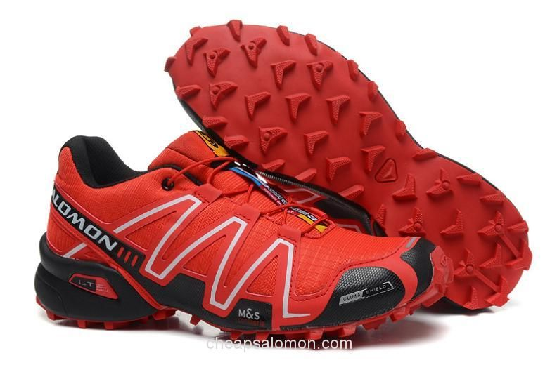 3e18d639a89cb L9033 Salomon Speedcross 3 CS Men Running Shoes Red Black | Outdoor ...