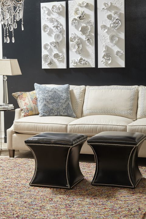 Kent Sofa And Roxie Ottomans White Sofas Color Trends Off