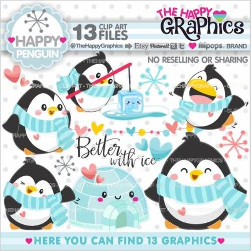 Buy Now Penguin Clipart Penguin Graphic COMMERCIAL USE ...