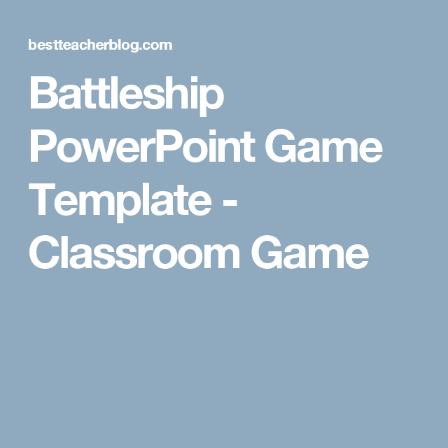 Battleship Powerpoint Game Template  Classroom Game  Education