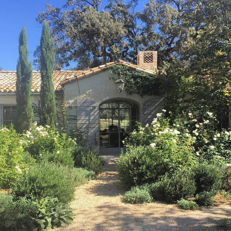 Tuscan House Style With Front Walkway And Italian Cypress: Autumn At Patina Farm...