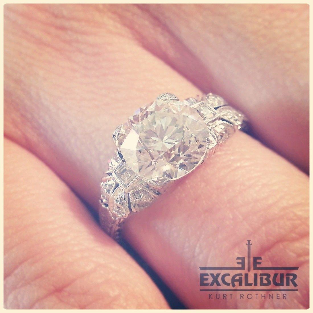 1920\'s Platinum & Diamond Ring, 1.87ct J-VS1 - Rings | I Do-The Ring ...