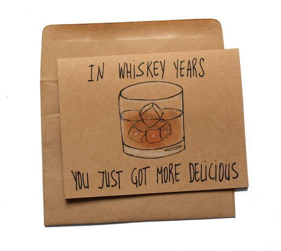 Photo of Whiskey birthday card – funny birthday card for whiskey lover – whiskey card for dad – whiskey birthday card for him – grandfather card