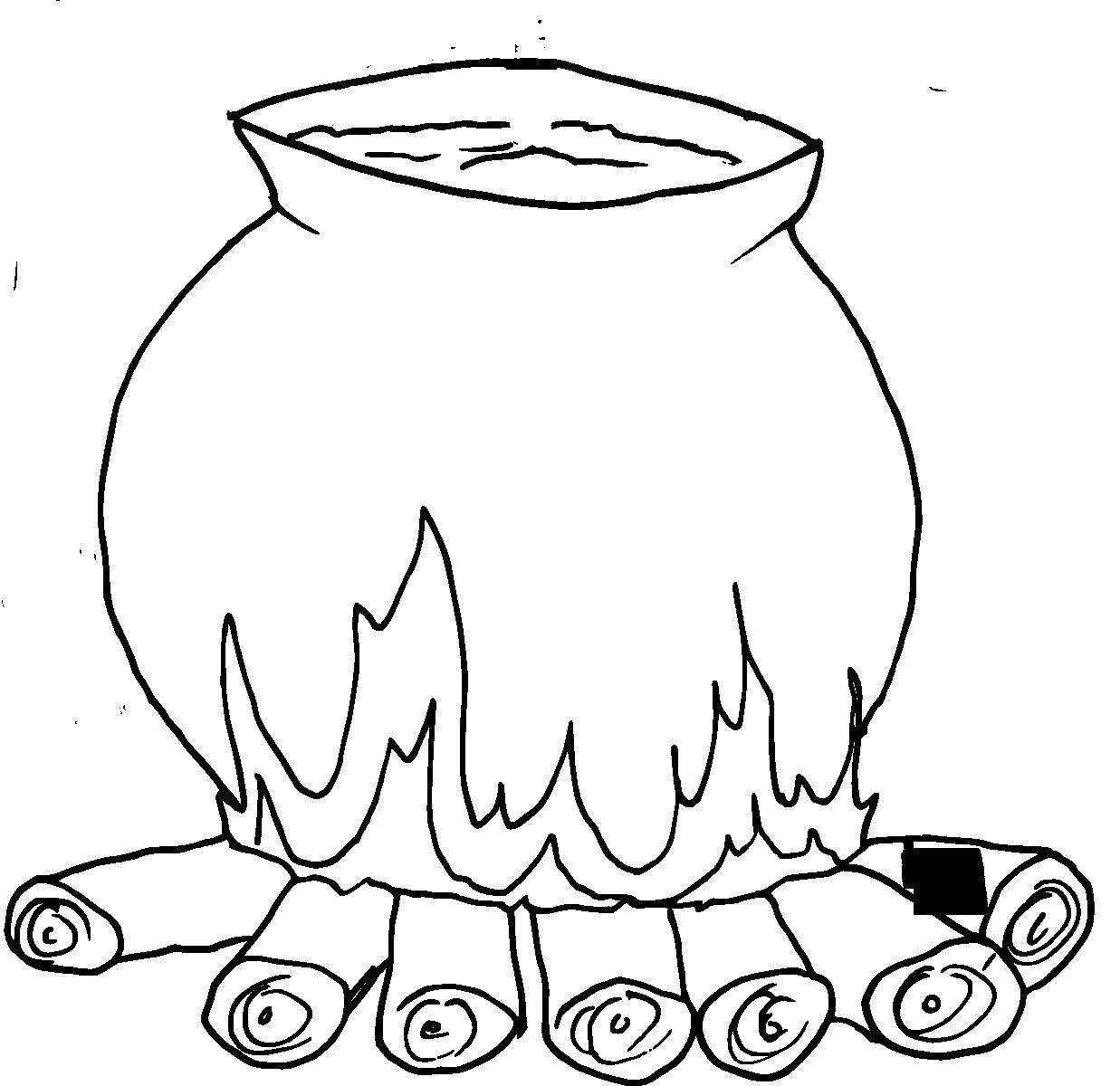 Coloriages d'objets Chaudron Coloriage, Coloriage