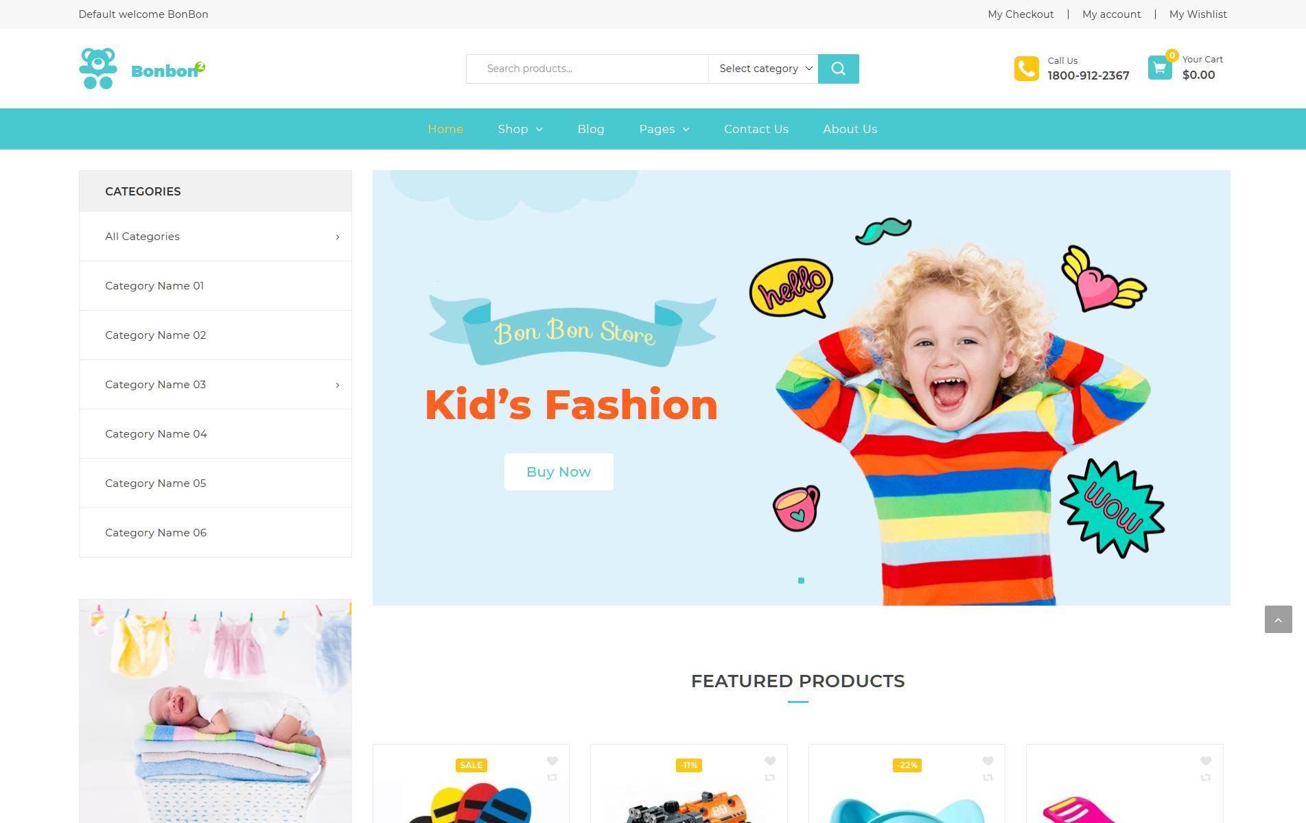 823daba0f66b Bonbon - Baby & Kids Store WooCommerce Theme | Poster Design ...