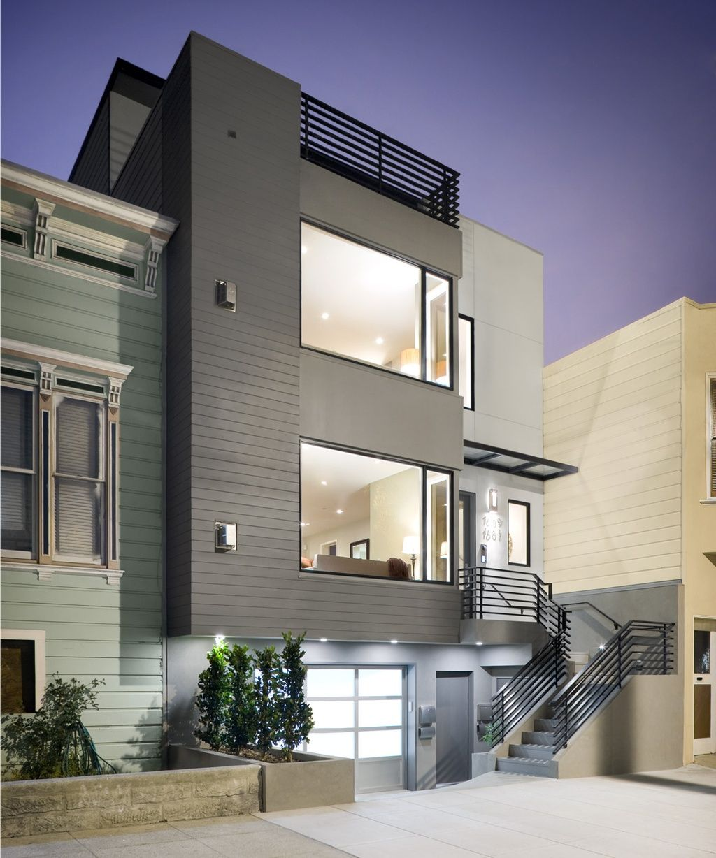 Exterior Home Design Software: Noe Valley Townhouses Residential