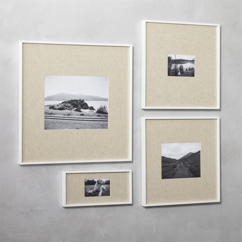 Shop Gallery White Picture Frames With Linen Mats Exhibit Your