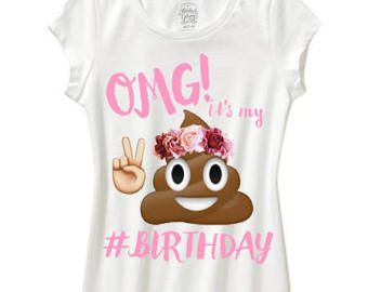 Emoji Birthday Shirt Omg Its Girls Flower Jpg 340x270 13th