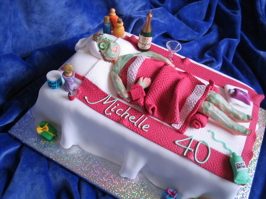 Spa Birthday Party Cake Ideas Spa At Home Pinterest Spa - Spa birthday party cake