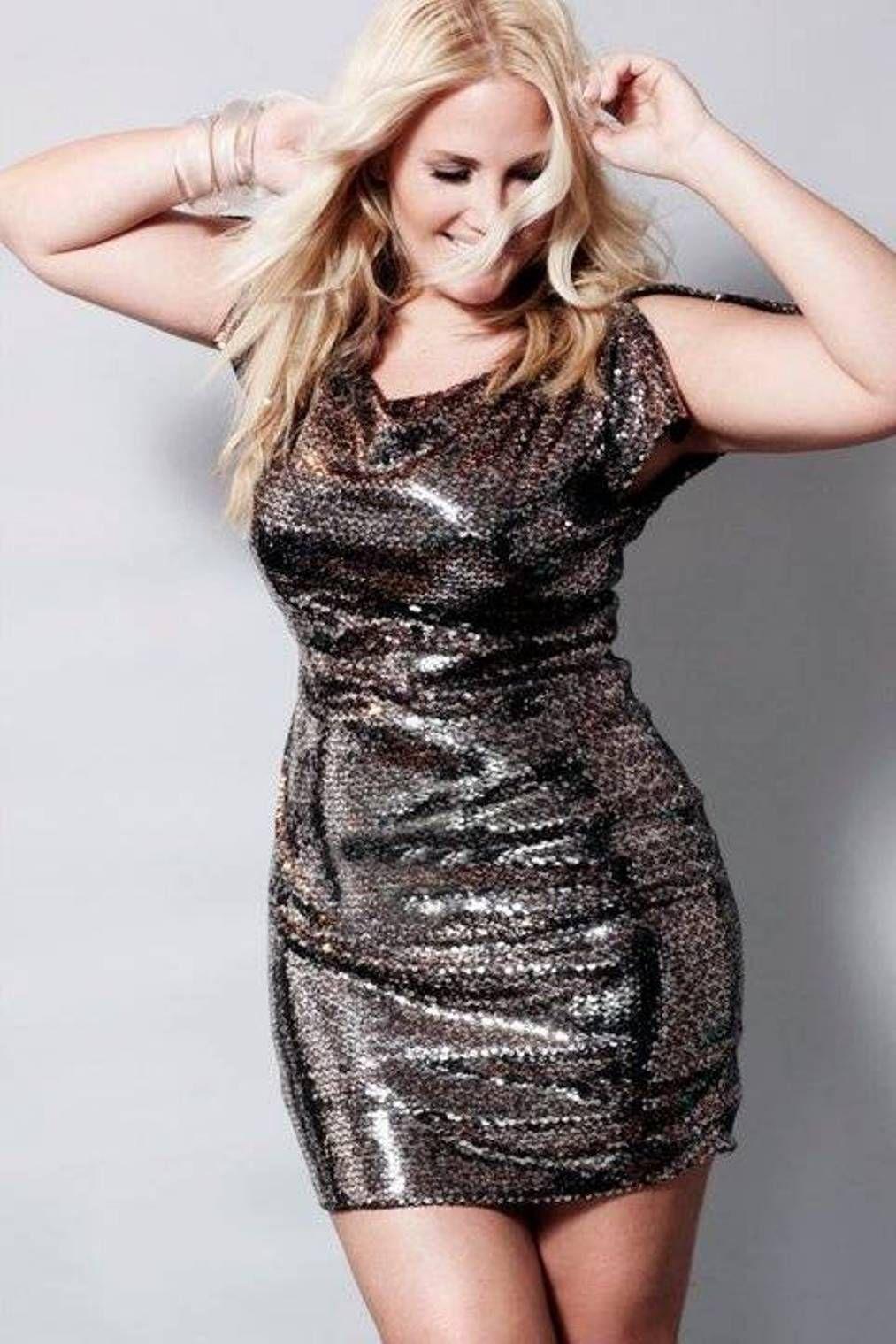 sequin flattering plus size dresses - My Style-Dresses - Pinterest ...