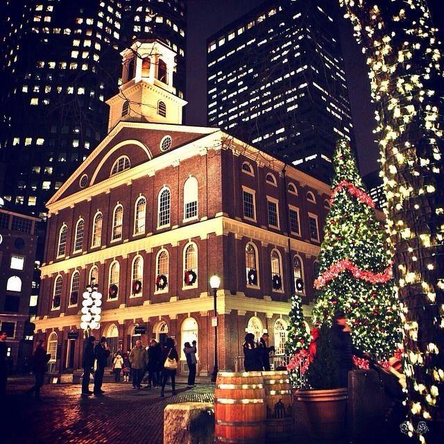 Fanual Hall in Boston, near Quincy Market Christmas in