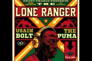 Capa do single que a dupla de DJs The Lone Ranger e Grant Phabao lançou em homenagem ao corredor Usain Bolt - e seu patrocinador, a Puma