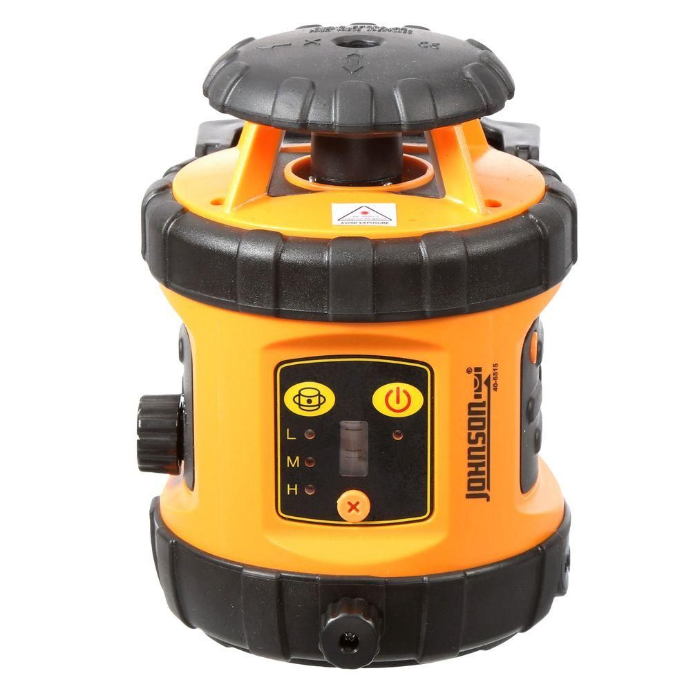 Johnson Self Leveling Rotary Laser Level With Detector Red Beam Rotary Johnson Johnson